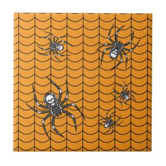 Spiders on Parade Tile