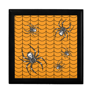 Spiders on Parade Tile Box Trinket Boxes