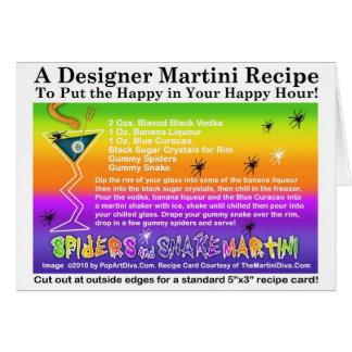 Spiders & Snake Halloween Martini Recipe Card