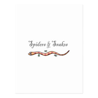 SPIDERS & SNAKES POSTCARD