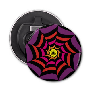 Spider's Web Can Opener Button Bottle Opener