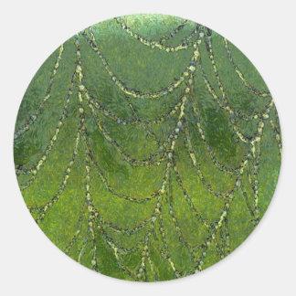 Spiders Web Classic Round Sticker