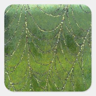 Spiders Web Square Sticker