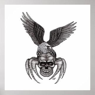 Spiderskull avec Eagle Poster