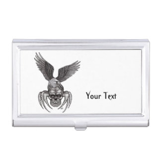 Spiderskull with Eagle Business Card Holder