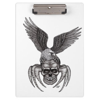 Spiderskull with Eagle Clipboard