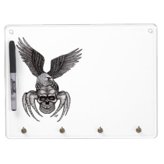 Spiderskull with Eagle Dry Erase Board With Keychain Holder