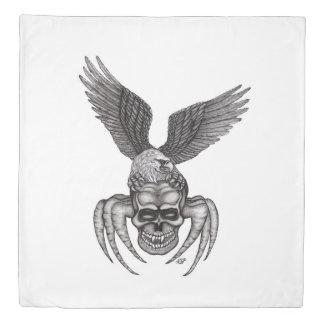 Spiderskull with Eagle Duvet Cover