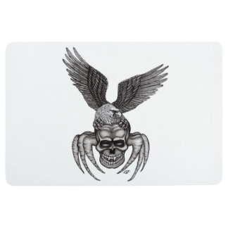 Spiderskull with Eagle Floor Mat