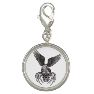 Spiderskull with Eagle Photo Charm