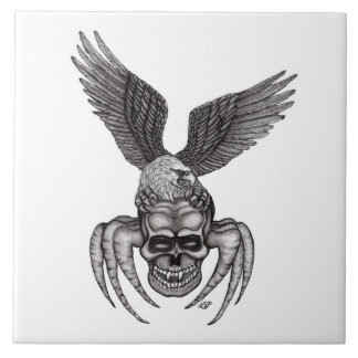 Spiderskull with Eagle Tile