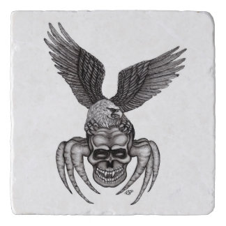 Spiderskull with Eagle Trivet
