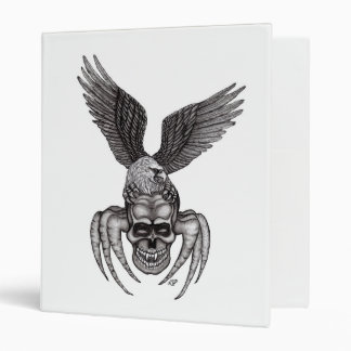 Spiderskull with Eagle Vinyl Binder