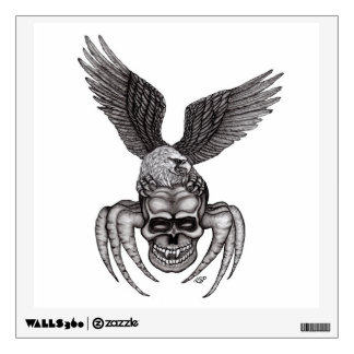 Spiderskull with Eagle Wall Decal
