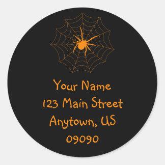 Spiderweb Address Label (Orange / Black)