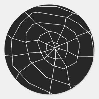 Spiderweb Black and White Halloween Stickers