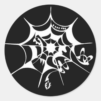 Spiderweb cobweb classic round sticker