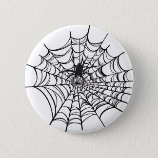 Spiderweb Halloween Button