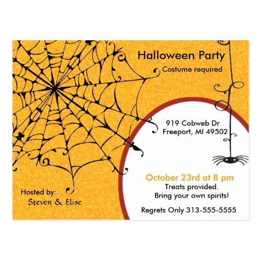 SPIDERWEB INVITE POST CARDS