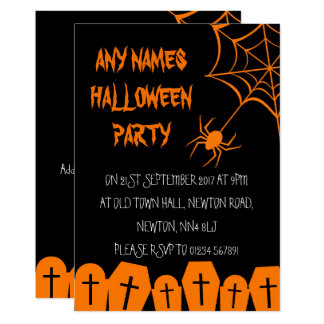 SpiderWeb Personalised Halloween Party Invitations