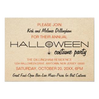 Spiderweb Typography Halloween Invitation