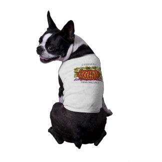Spidery Jack O'Lantern Dog T Shirt