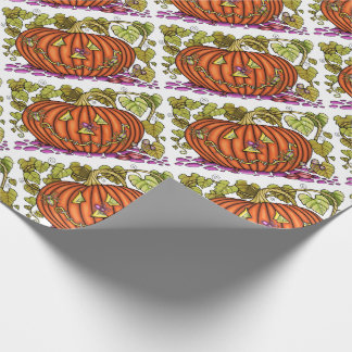 Spidery Jack O'Lantern Wrapping Paper