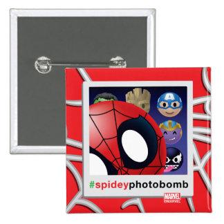 #spideyphotobomb Spider-Man Emoji 2 Inch Square Button