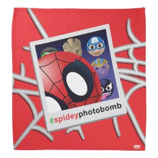 #spideyphotobomb Spider-Man Emoji Bandana