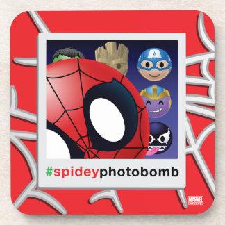 #spideyphotobomb Spider-Man Emoji Coaster