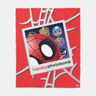 #spideyphotobomb Spider-Man Emoji Fleece Blanket
