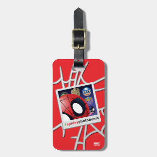 #spideyphotobomb Spider-Man Emoji Luggage Tag
