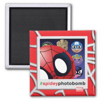 #spideyphotobomb Spider-Man Emoji Magnet
