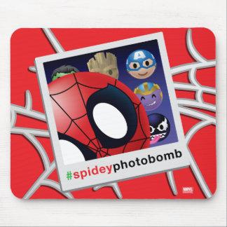 #spideyphotobomb Spider-Man Emoji Mouse Pad