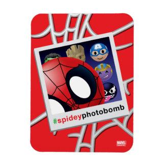 #spideyphotobomb Spider-Man Emoji Rectangular Photo Magnet