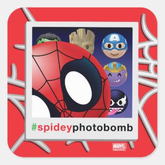 #spideyphotobomb Spider-Man Emoji Square Sticker