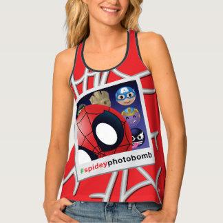 #spideyphotobomb Spider-Man Emoji Tank Top