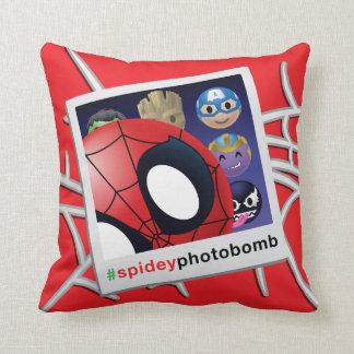 #spideyphotobomb Spider-Man Emoji Throw Pillow