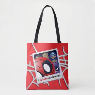 #spideyphotobomb Spider-Man Emoji Tote Bag