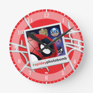 #spideyphotobomb Spider-Man Emoji Wallclocks