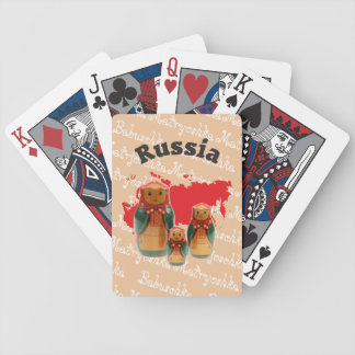 Spielkarten babushka Matrjoschka Matryoshka Bicycle Playing Cards