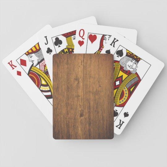 Spielkarten with wood optics playing cards