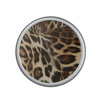Spiffy Leopard Spots Leather Grain Look Bluetooth Speaker