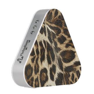 Spiffy Leopard Spots Leather Grain Look Speaker