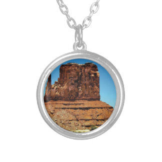 spike in the monument silver plated necklace