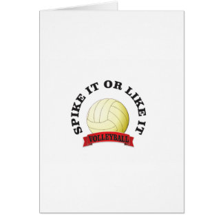 spike it and like it volleyball card