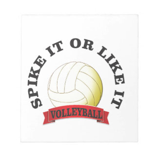 spike it and like it volleyball notepad