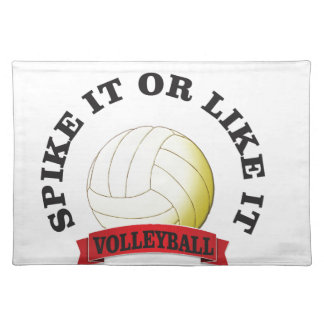 spike it and like it volleyball placemat