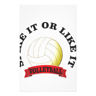 spike it or like it volly ball personalized stationery