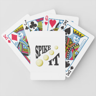 spike it volleyball poker deck